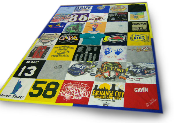 "First original T-shirt Quilt also known as a ""Memory Quilt"""
