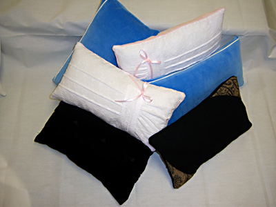 Memory pillows from Mom's clothing for all her grandchildren - Great Mother's Day gifts.